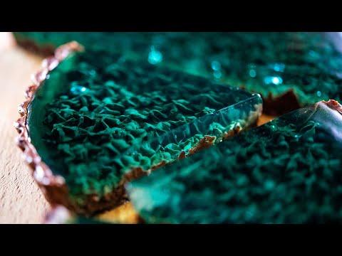 チョコミントタルト〜エメラルドマリンとサンゴ礁〜 Chocolate mint tart
