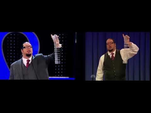 Nail gun trick in sync - Penn & Teller are professionals