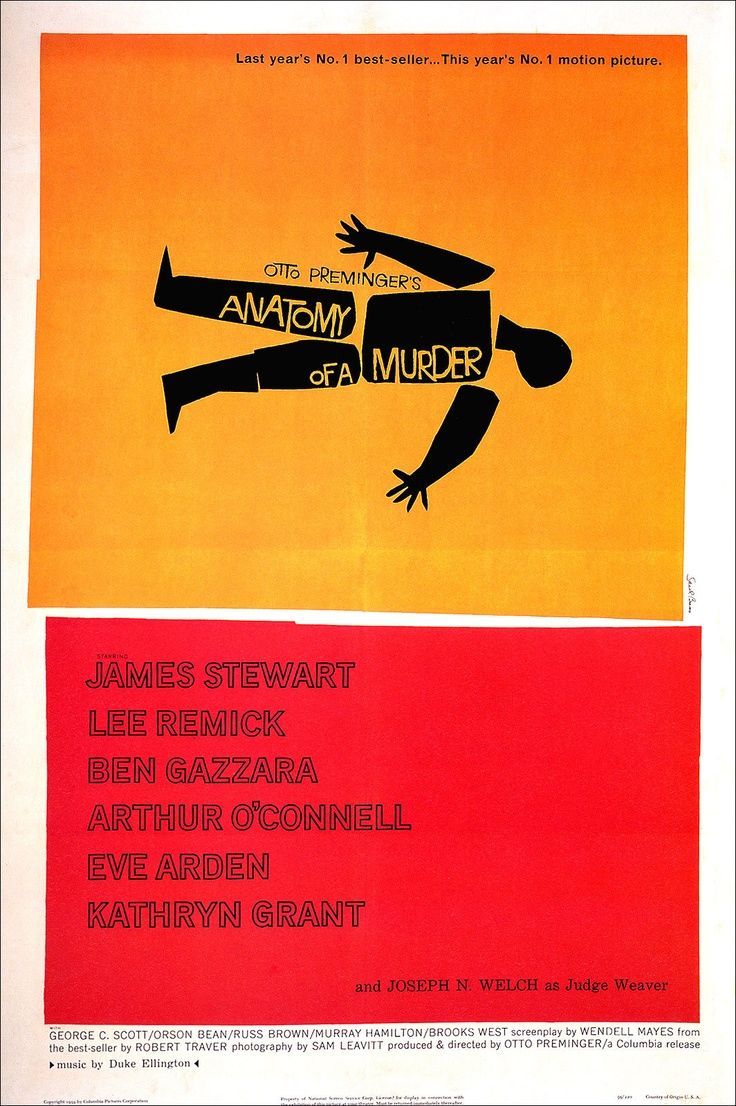 Anatomy of a Murder 1959 Poster