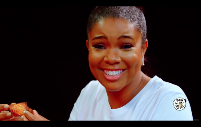 Gabrielle Union eats hot wings, discusses Twitter fools & DMX