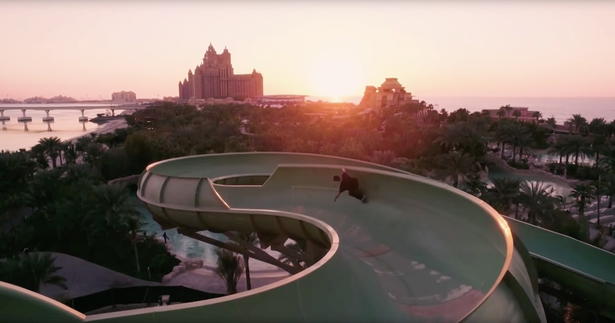 An Empty Water Park In Dubai Makes A Dope Skateboarding Venue