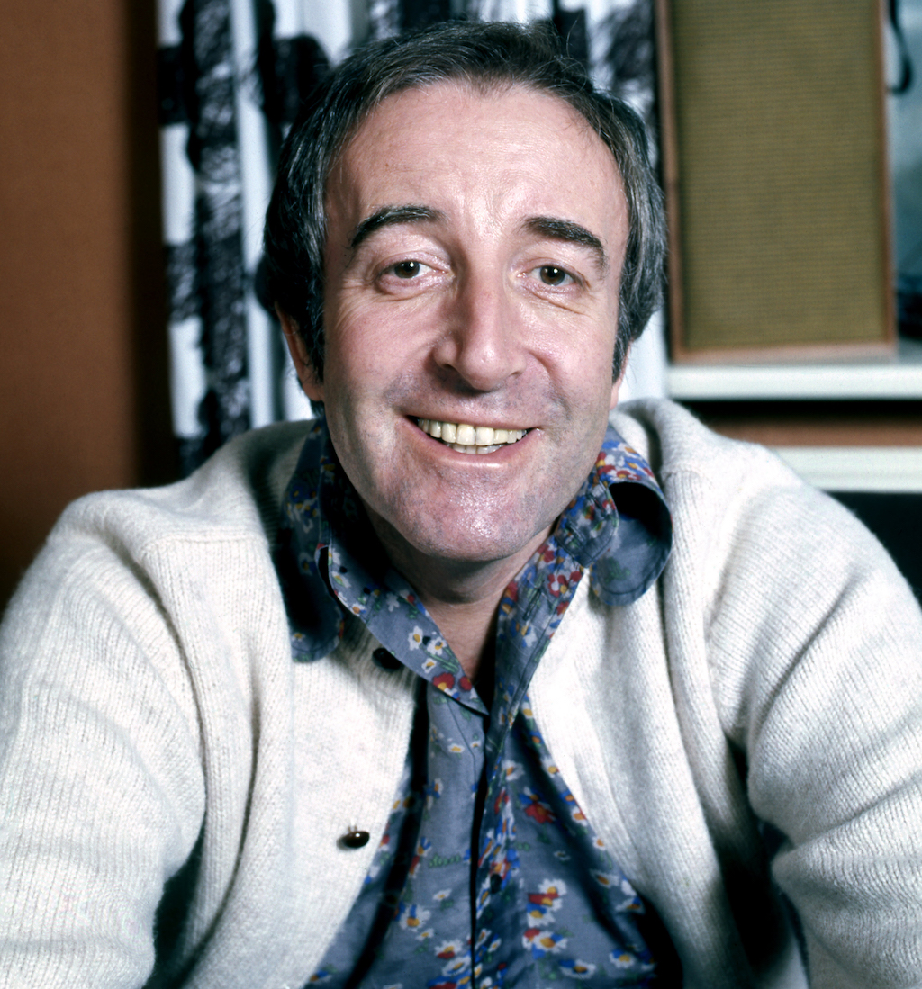 Peter Sellers at home in Belgravia, London, 1973