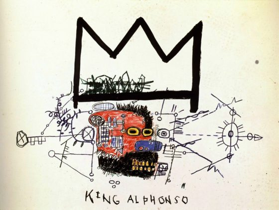 King Alphonso by Jean Michel Basquiat