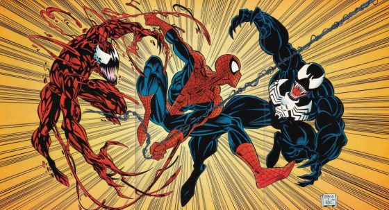 Carnage, Spider-Man, and Venom