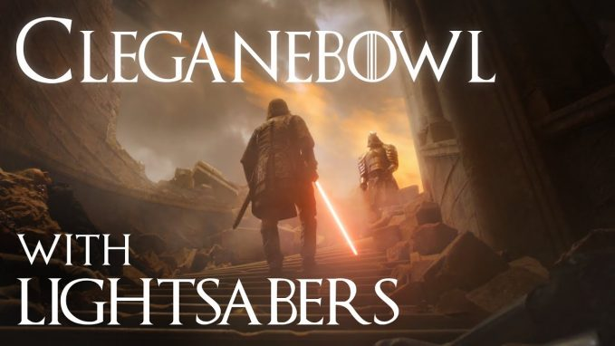 cleganebowl with lightsabers