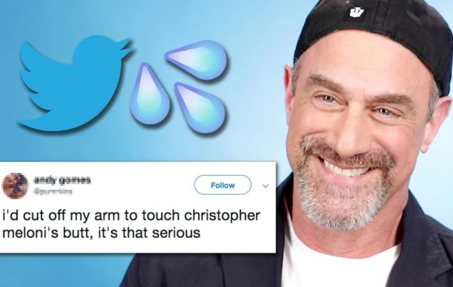 Christopher Meloni reads thirst tweets about his ass