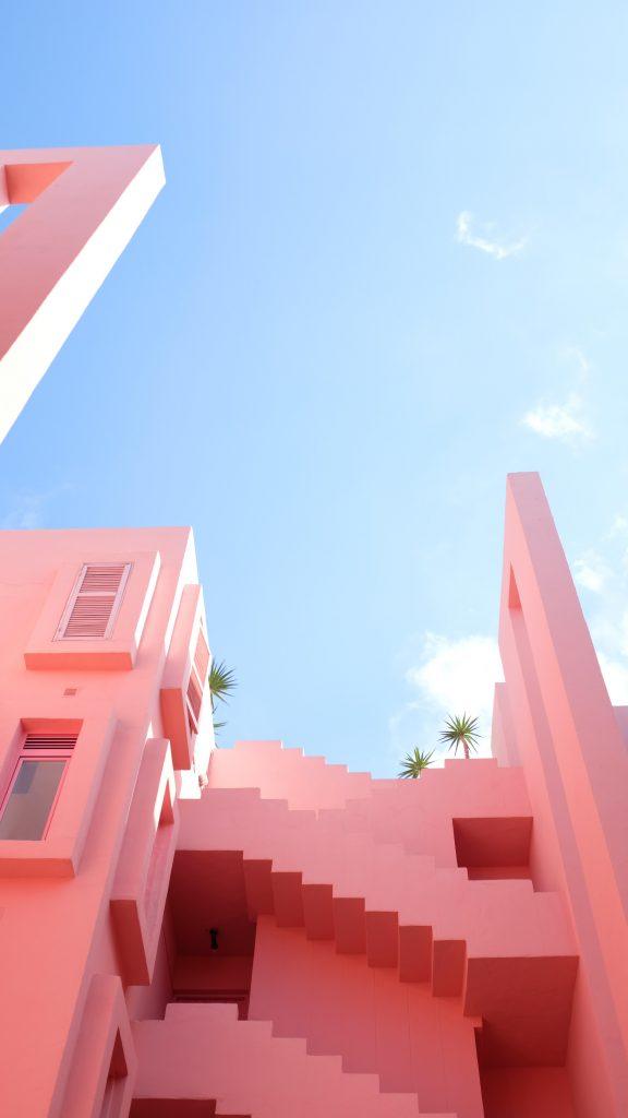 Pink buildings