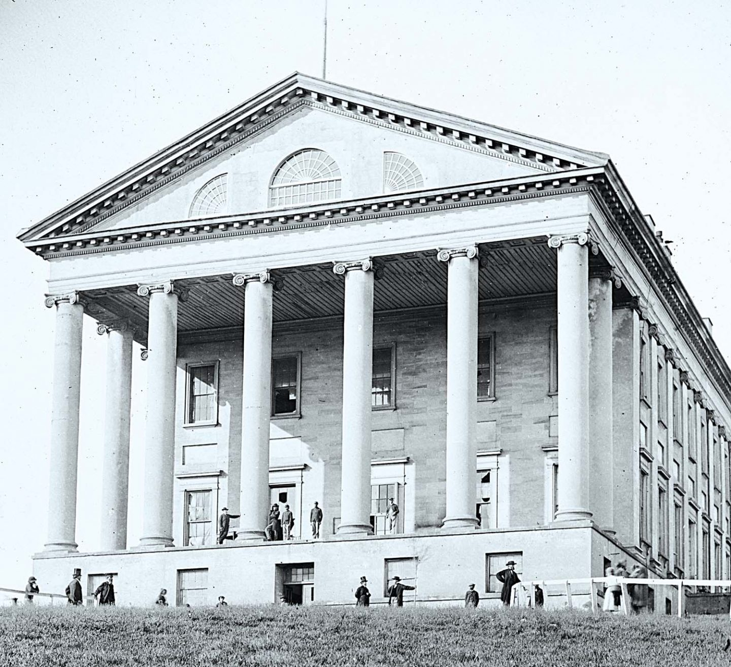 Virginia State Capitol in Richmond, Virginia, designed by Thomas Jefferson.