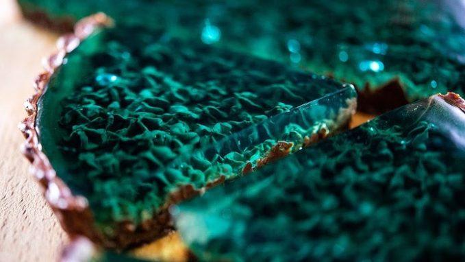 Emerald marine chocolate mint tart
