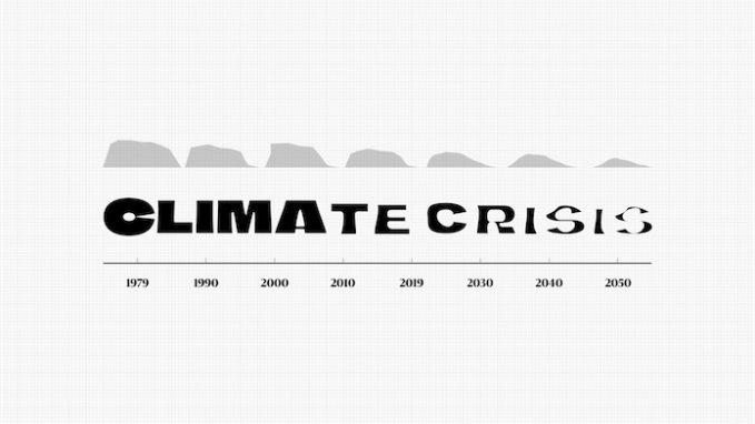 Climate change font graph